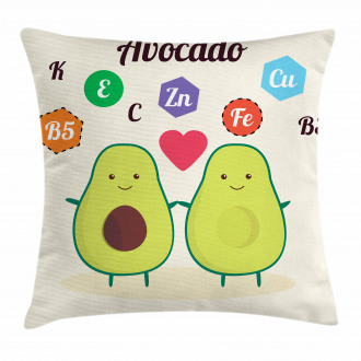 Funny Food Vitamins Pillow Cover