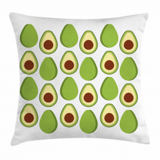 Colorful Organic Food Pillow Cover