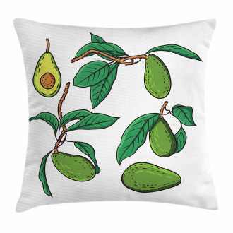 Exotic Fruits on Branch Pillow Cover