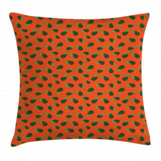 Comic Style Avocados Pillow Cover