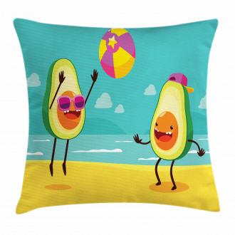 Summer Beach Volleyball Pillow Cover