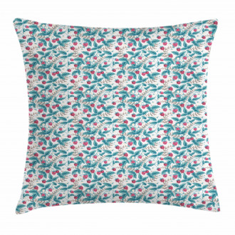Spring Season Raspberries Pillow Cover