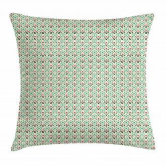 Oriental Culture Flowers Pillow Cover