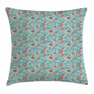 Woodland Floral Design Pillow Cover