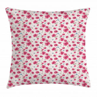 Summer Poppies Pillow Cover