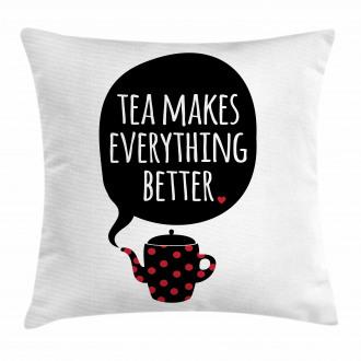 Cartoon Teapot Polka Dot Pillow Cover