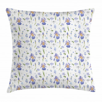 Dragonfly Romance Nature Pillow Cover