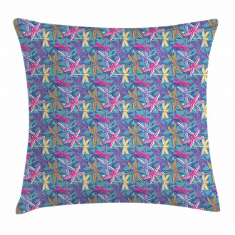 Grunge Colorful Bugs Pillow Cover