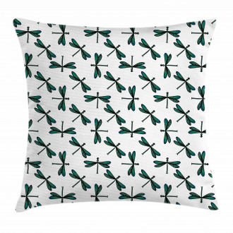 Cartoon Dragonfly Pillow Cover