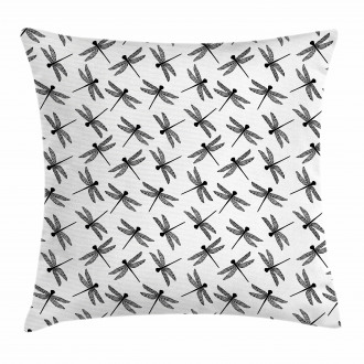 Sketch Wings Pillow Cover