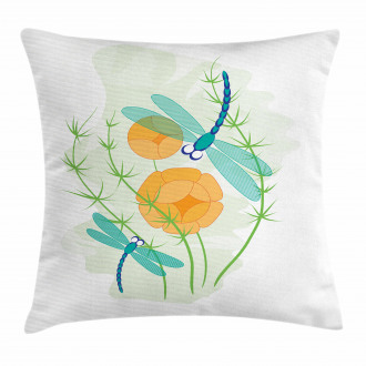 Colorful Nature Bugs Pillow Cover