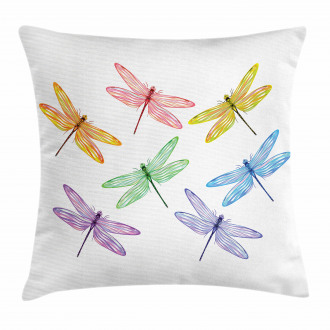 Fantasy Bugs Pattern Pillow Cover