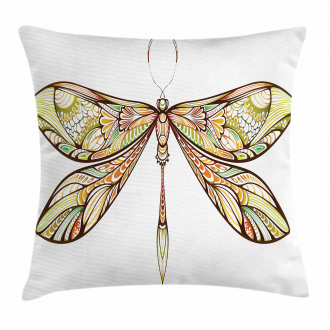 Colorful Bug Design Pillow Cover