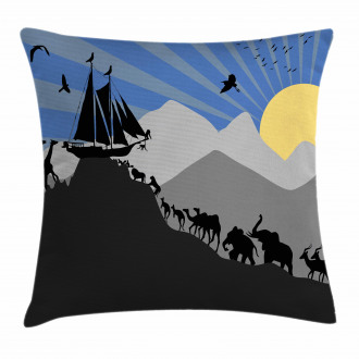 Pair of Creatures Ark Pillow Cover