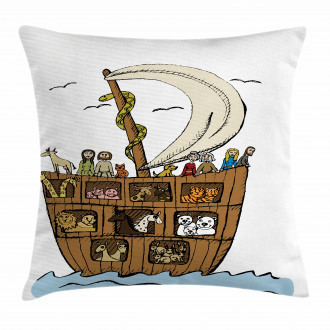 Ancient Flood Story Pillow Cover