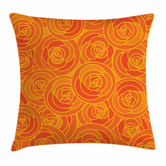 Outline Roses Autumn Pillow Cover