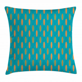 Wave Board Summer Pattern Pillow Cover