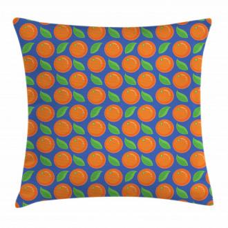 Citrus Fruit Green Leaf Pillow Cover