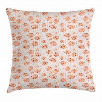 Abstract Flowers Pastel Pillow Cover