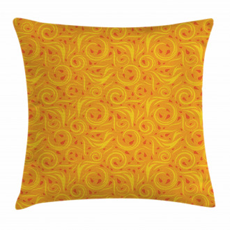 Swirling Autumn Leaves Pillow Cover