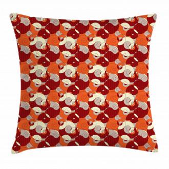 Retro Spirals Twirls Pillow Cover