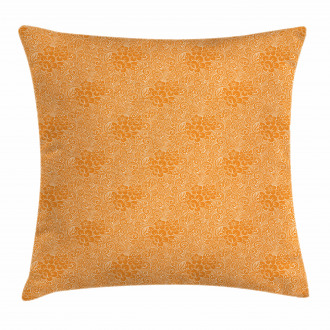 Rococo Floral Foliage Pillow Cover
