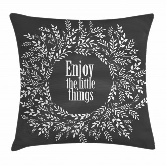 Wreath with a Phrase Pillow Cover