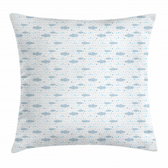 Rain Drops and Droplets Pillow Cover