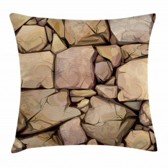 Cottage Stone Wall Pillow Cover