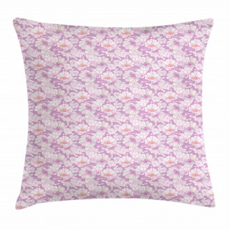 Pastel Flower Blooms Pillow Cover