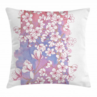 Japanese Spring Bloom Pillow Cover