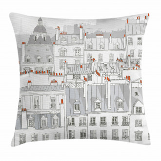 European Building Roofs Pillow Cover
