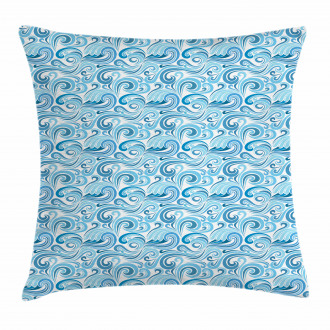 Abstract Sea Waves Pillow Cover