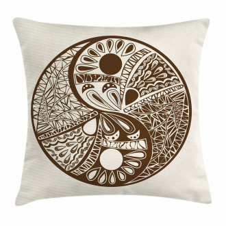 Abstract Hand-Drawn Pillow Cover