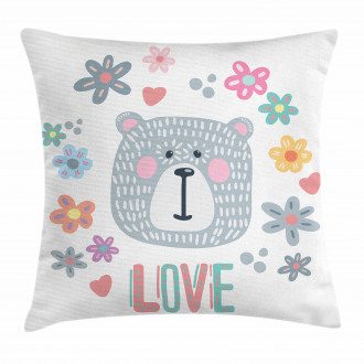 Funny Doodle Face Pillow Cover