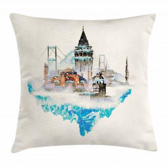 Watercolor Winter Art Pillow Cover