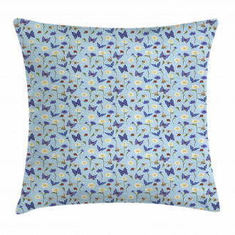 Spring Bees Botany Pillow Cover
