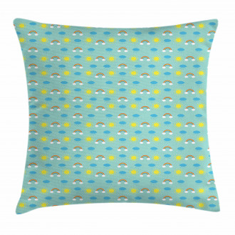 Weather and Seasons Theme Pillow Cover