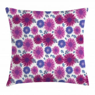 Blooming Fall Flowers Pillow Cover
