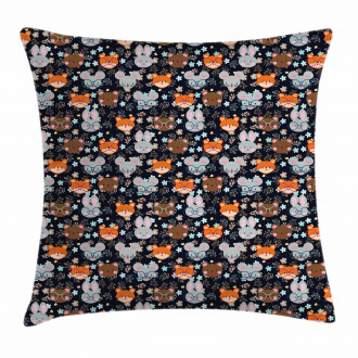 Bunny Fox with Glasses Pillow Cover
