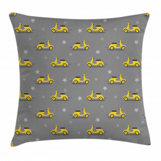 Scooters and Stars Pillow Cover