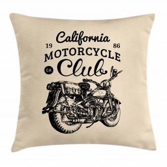 Vintage Chopper Bike Pillow Cover