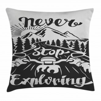 Road to the Mountains Pillow Cover