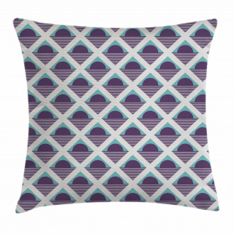 Squares Circles Stripes Pillow Cover