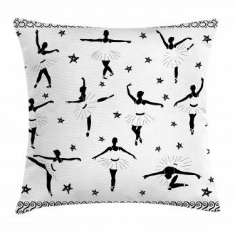 Stars and Hand-drawn Swirls Pillow Cover