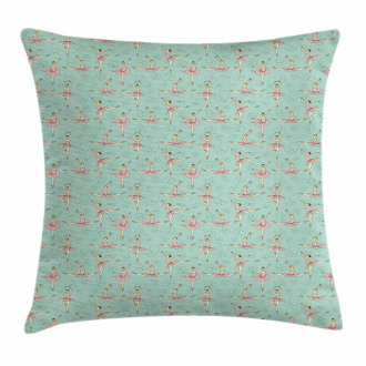 Ballerinas in Various Poses Pillow Cover