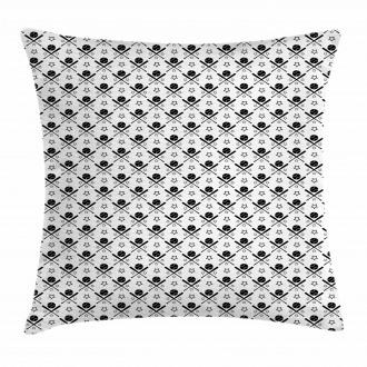 Stars Bats Balls Design Pillow Cover