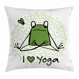 I Love Yoga Quote Pillow Cover