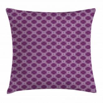 Floral Tiles Purple Tones Pillow Cover