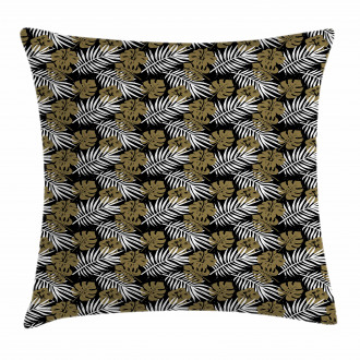 Tropic Foliage Motifs Dots Pillow Cover